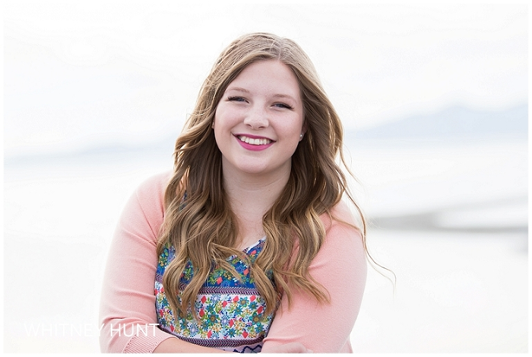 farmington utah high school senior photo at the Great Salt Lake