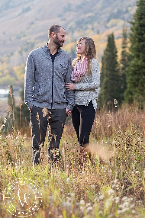 Fall Albion Basin engagement session in Utah. Utah wedding photographer. Whitney Hunt Photography