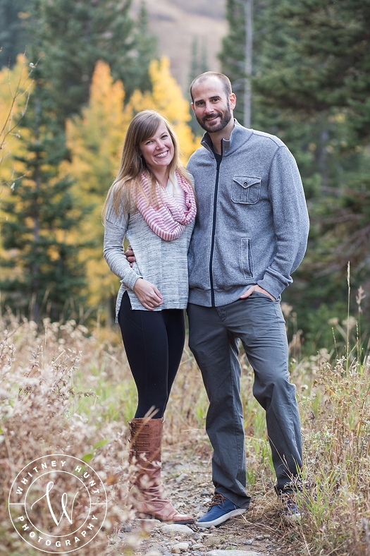 Fall Albion Basin engagement session. Utah wedding photographer. Whitney Hunt Photography