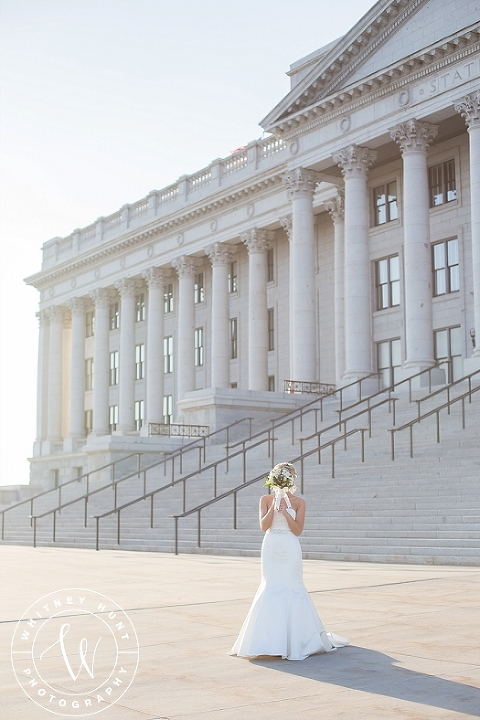 Utah state capitol bridals. Salt Lake City Wedding Photographer. Whitney Hunt Photography