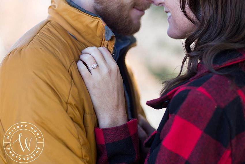 Logan Temple engagement session. Utah wedding photographer. | Whitney Hunt Photography