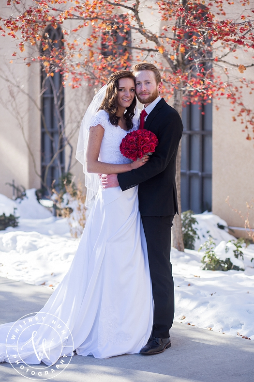 Utah Logan Temple Wedding. Winter Logan Temple Wedding. | Logan Utah Wedding Photographer. Whitney Hunt Photography