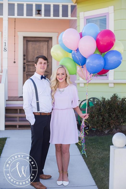 Disney UP House Engagement Session. | Whitney Hunt Photography. Salt Lake City Wedding Photography.