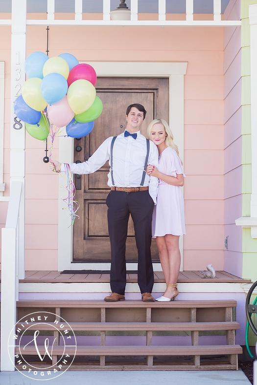 Disney UP House Engagement Session. | Whitney Hunt Photography. Salt Lake City Wedding Photographer.