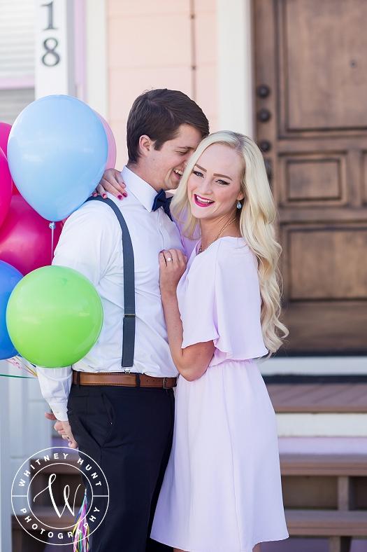 Disney UP House engagement session. | Whitney Hunt Photography. Salt Lake City Utah Wedding Photographer.