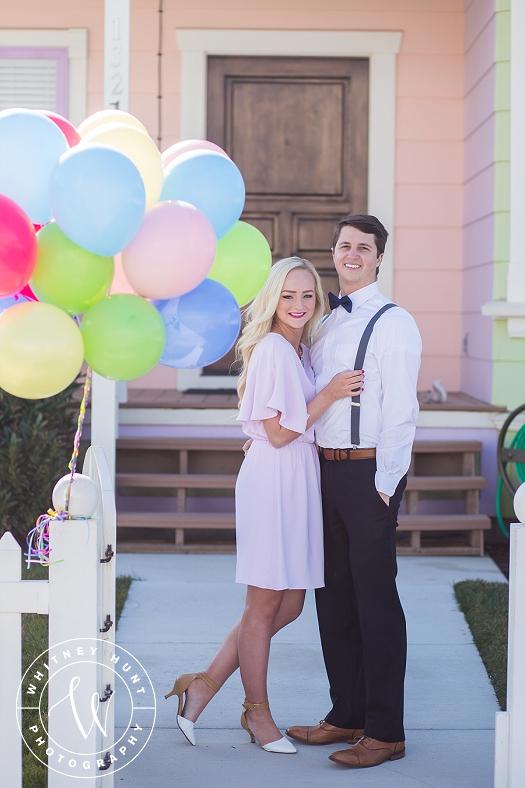 Disney UP House engagement session. Whitney Hunt Photography. Salt Lake City Wedding Photographer.
