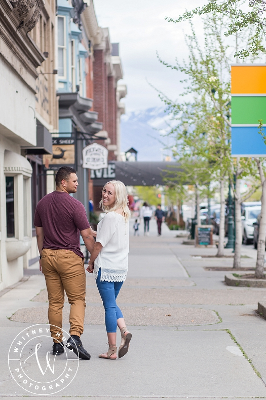 Provo Center Street Engagement Session | Karly & Alfeleti