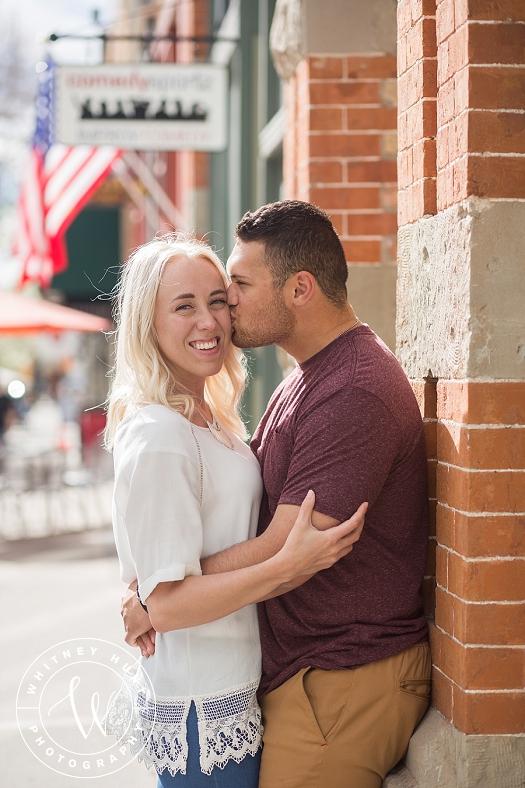 Provo Center Street Engagement Session | Utah wedding photographer. Whitney Hunt Photography