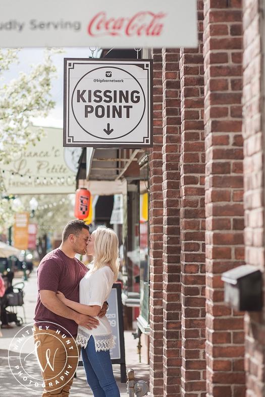 Provo Center Street Engagement Session. | Utah wedding photographer. Whitney Hunt Photography