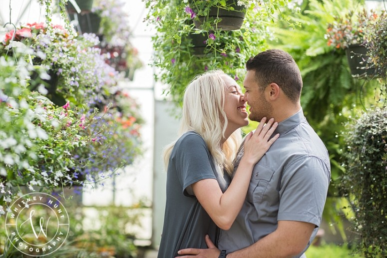 Utah Greenhouse Engagement Session | Karly & Alfeleti