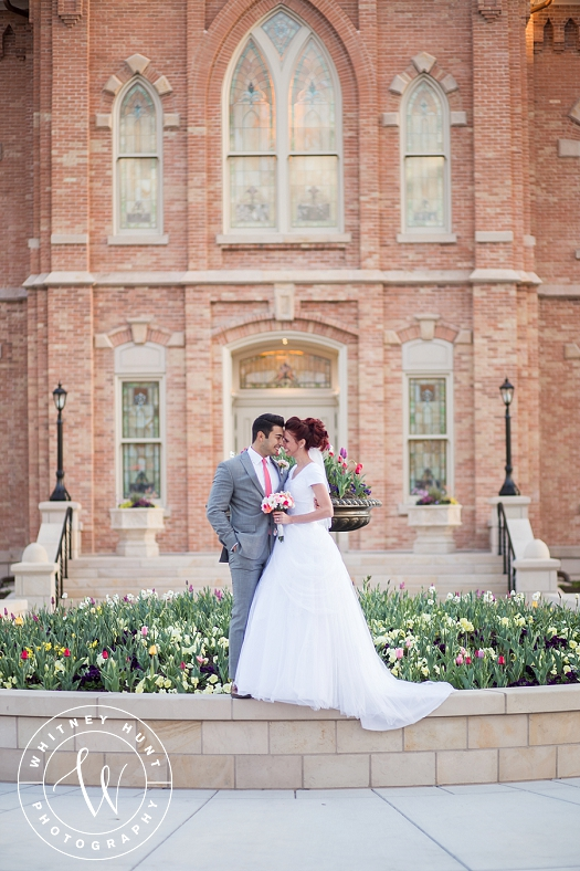 Provo City Center Temple wedding. First Look session at the Provo City Center LDS Temple. Utah Wedding Photographer. | Whitney Hunt Photography