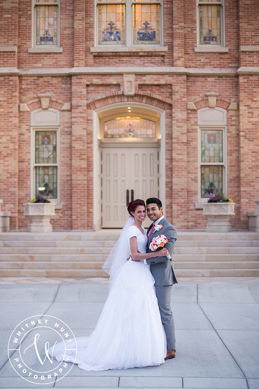 Provo City Center Temple wedding. First Look at the Provo City Center LDS Temple. Utah wedding photographer. | Whitney Hunt Photography
