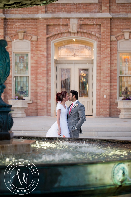 Provo City Center Temple Wedding. First Look at the Provo City Center Temple. Utah wedding photographer. | Whitney Hunt Photography