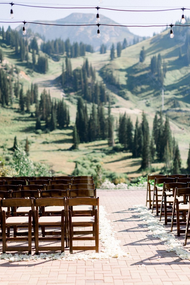 Beautiful mountain views for Alta Lodge wedding ceremony location. Whitney Hunt Photography.